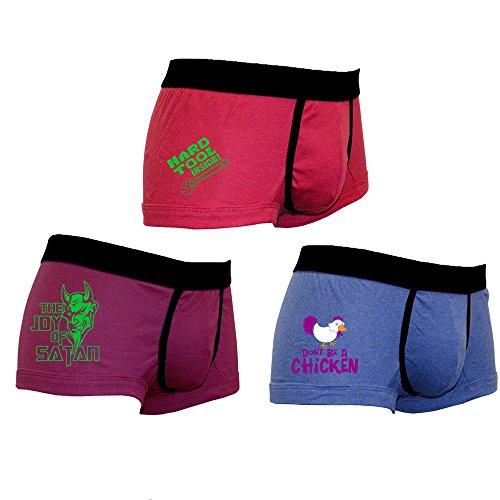 Herren 3er Pack Lustige Boxershorts-Trunks Unterw�sche-Tool-Chicken-Satan-015-Neuheit-Geschenke (Chicken Boxer)