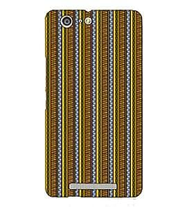 Fuson Designer Back Case Cover for Gionee Marathon M5 (Yellow designer pattern theme)