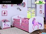 Kinderbett Einhorn - inkl. Schubladen und Matratze viele Farben