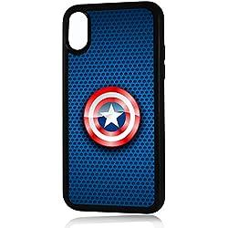 HOT10150 Capitán América - Carcasa para iPhone X a prueba de golpes, diseño de Capitán América