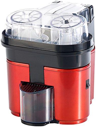 Rosenstein & Söhne Orangenpresse elektrisch: Elektrische Duo-Zitruspresse für 2 Frucht-Hälften, bis 500 ml, 90 Watt (Zitruspresse automatisch) (Automatische Zitruspresse)