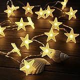 3M 30 LED Lichterkette, Lypumso Lichtervorhang Sternenvorhang 3 Modi Innen & Außenlichterkette Wasserdicht Dekoration für Weihnachten Deko Party Festen(Warmweiß)