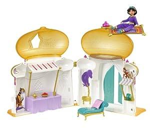 Disney W0010 - Mini castillo con muñeca de Jasmine y accesorios de Disney Princesses