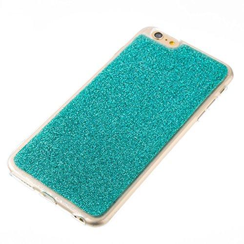 Custodia iphone 6 Plus/6s Plus, iphone 6 Plus/6s Plus Cover, iphone 6 Plus/6s Plus Custodia Silicone,Cozy Hut Case Cover per iphone 6 Plus/6s Plus, Shiny Sparkly Bling Bling Glitter Conchiglia Caso Gu verde