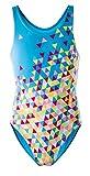 AquaWave Kinder Badeanzug Einteilig für Mädchen - Perfekt für Meer und Pool - Triango Jr, Blau, 140