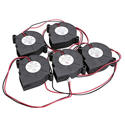 Demiawaking 5Stk. schwarzer bürstenloser DC-Kühlgebläse-Ventilator 5015S 5V 0.07A 50x15mm (5v Gebläse)