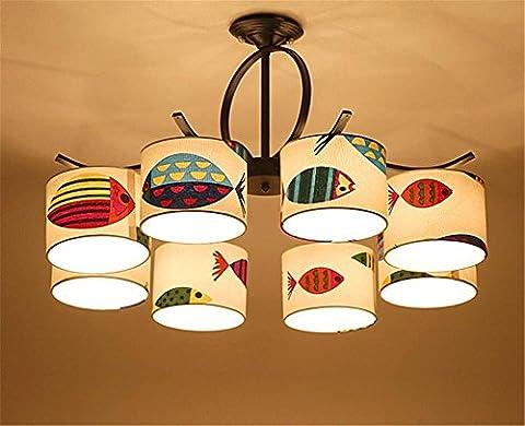 GAYY Innenbeleuchtung Kronleuchter Leuchten Eisen Stoff Pendelleuchte Schlafzimmer Kinder 'S Raum Decke, dekorative Kronleuchter