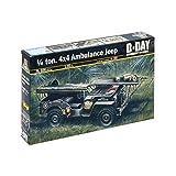Italeri 1/4 Ton 4x4 Ambulance Jeep D Day 326 1:35 Military Model Kit