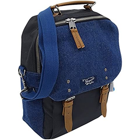 Mens Bags Original Penguin Rucksack Bag - School / Work / Gym Holdall BackPack Chambray Dark