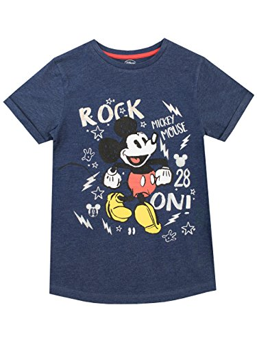 Disney Jungen Mickey Mouse T-Shirt Blau 116 - Mickey Mouse T-shirt Top