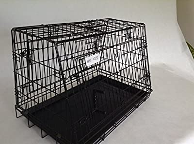 Double Sloping Dog car cage with divider GYC03PT