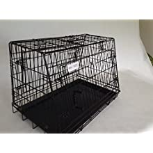 doghealth Double Sloping Dog car cage with escape hatch with divider GYC03PT