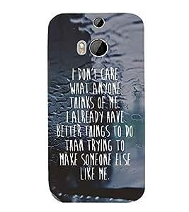 Fuson Premium Printed Hard Plastic Back Case Cover for HTC One M8