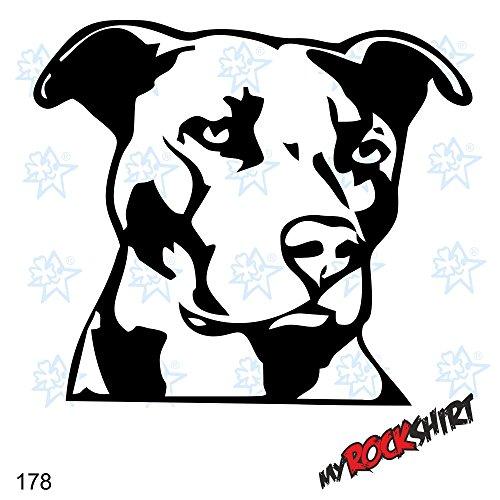 Pitbull Kopf Hundeaufkleber Auto Wandtattoo Dog 20 cm Hund Hunde Sticker Autoaufkleber Auto Aufkleber Hundeaufkleber `+ Bonus Testaufkleber