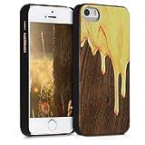 kwmobile Coque Apple iPhone Se / 5 / 5S - Étui de Protection Rigide en Bois pour...