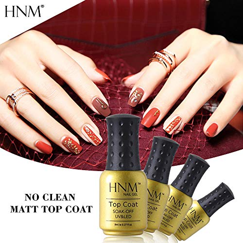 HNM Mat Top Coat Pas Wipe Soak Off UV LED Vernis À Ongles Apprêt Gel Polonais Salon Manucure 8ML