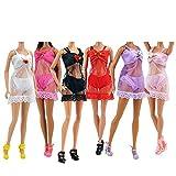 Lance Home® 6 Set Sexy Bikini Schlafanzug Kleider Kleidung Unterwäsche Morgenmantel Kleider für Barbie Puppen