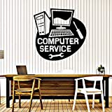 yaoxingfu Vinyl Wall Decal Computer Service Repair Stickers Mural Creative Logo Symbol Mural Removable Interior Poster Window Decor  42x42cm