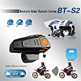 Bluetooth Fm Wireless Intercom Headset, Hot Automatische Antwort FM Wasserdichte Musik Motorrad Bluetooth BT-S2 Headset 3.0 1000 m Intercom Connect MP3 GPS Walkie-Talkie Motorradhelm