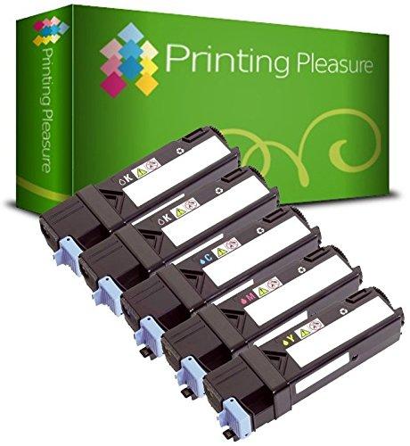 5 Toner Kompatibel für Dell 2150cn 2150cdn 2155cn 2155cdn - Schwarz/Cyan/Magenta/Gelb, Hohe Kapazität