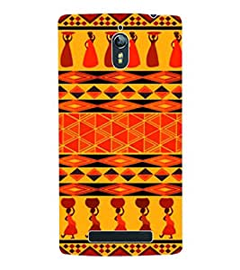 Fuson 3D Printed Tribal Pattern Designer Back Case Cover for Oppo Find 7 - D998