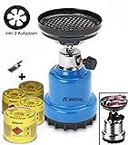 Hornillo de gas camping hervidor Shisha carbón Cigarrillos grillanzünder + 4x...