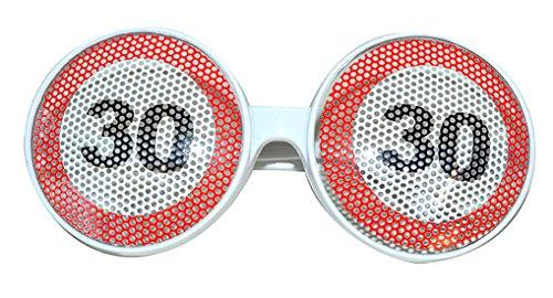 30 Kostüme (Halloweenia - Kostüm Brille - 30. Geburtstag Partybrille mit Zahl,)