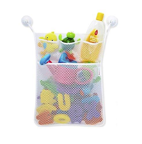 Starsglowing Badewanne Spielzeug Netztasche Bad Spielzeug Organizer Netz Aufbewahrungstasche mit 2 Saugnäpfe (ohne Spielzeug) -