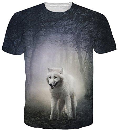 Sleeve 3 T-shirt-männer 4 (uideazone Mens Womens T-Shirts gedruckt Fire Dragon Shrot Sleeve Graphic Tees XL)