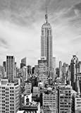 Fototapete EMPIRE STATE BUILDING 183 x 254 cm New-York, Skyline, schwarz-weiss