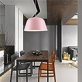 Kronleuchter Bar Restaurant Wohnzimmer Deckenlampe Schmiedeeisen Topfdeckel minimalistische Kunst Rosa (keine Glühbirne)