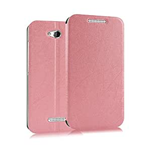 Heartly Premium Luxury PU Leather Back Case Cover For HTC Desire 616 (Pink)