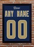 SGH SERVICES Los Angeles Rams Custom Personalisieren Jersey T-Shirt Add einen Namen, eine Zahl Ray Lewis 100% Leinwand gerahmt # 2