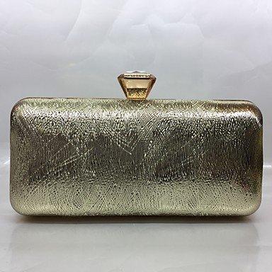 pwne Frauen Abend Tasche Pu All Seasons Formale Veranstaltung/Party Baguette Push Lock/Silber Schwarz Gold Champagne Gold