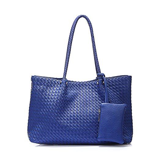 WU Zhi Damen Bild Paket Teiligen Anzug Schulter- Messenger Tasche Blue