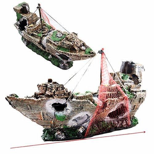 Corsair Acquario Acquario paesaggistica paesaggistica decorazione barca evasione fiscale casa decorazione nave Hohlen resina un relitto