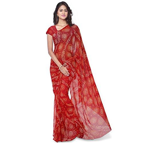 Rajnandini Women's Georgette Saree (Joplss1006_Maroon)