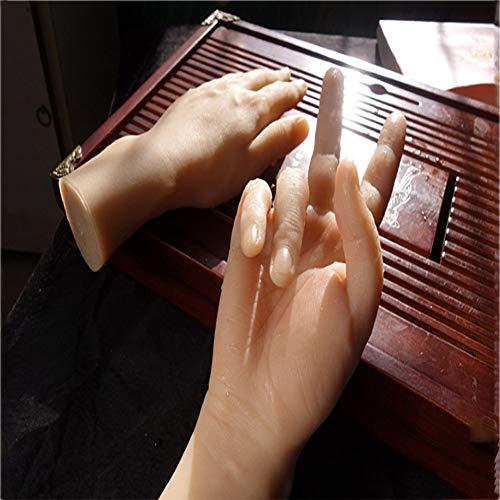 BIXINYAAN Modell Mannequin Hand Männlich Silikon lebensecht Modell Männlich Hände Flexibel und Frei Verstellbar