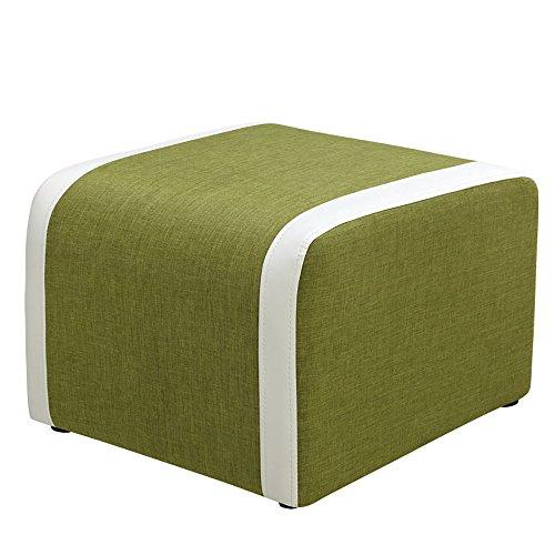 ZXQZ Tabouret de chaussure de Foyer de tissu / tabouret bas / tabouret européen de couture de couture / tabouret de sofa (5 couleurs facultatives) repose-pieds de stockage ( Couleur : Vert )