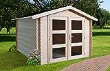 Alpholz Gerätehaus Holz mit Boden 225 x 210cm | Gartenhaus mit Dachpappe | Geräteschuppen naturbelassen Ohne Farbbehandlung (225 x 210cm)