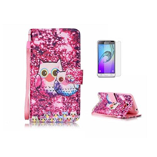 Custodia per iPhone 5, iPhone 5S, iPhone SE Custodia, con protezione per lo schermo in vetro temperato] antigraffio, fatcatparadise (TM) Custodia posteriore morbida in silicone, di alta qualità Colorf Owl
