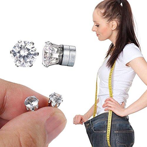 Shop Story - Ohrringe Diamant - Bio Magnet Schlankheitsmittel - reduziert Müdigkeit und fördert den natürlichen Gewichtsverlust