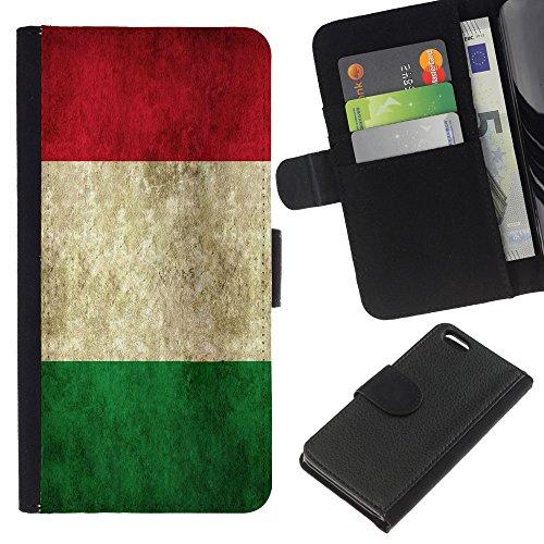 Graphic4You Vintage Uralt Flagge Von Slowakei Slowakisch Design Brieftasche Leder Hülle Case Schutzhülle für Apple iPhone 5C Italien