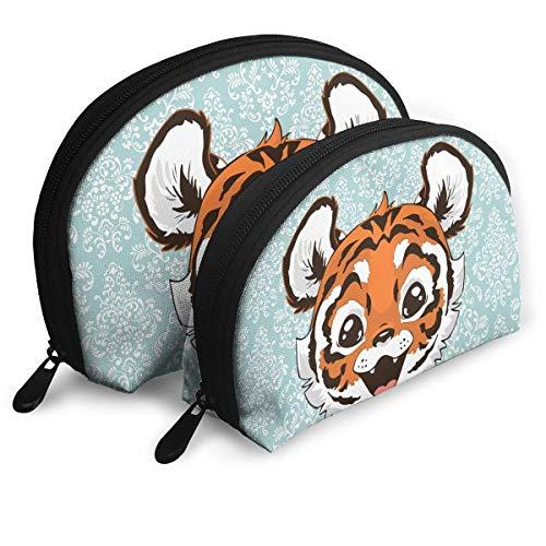 Make-Up Bag Tiger Baby Travel Makeup Pencil Pen Case Multifunction Storage Portable - 2 Piece ()