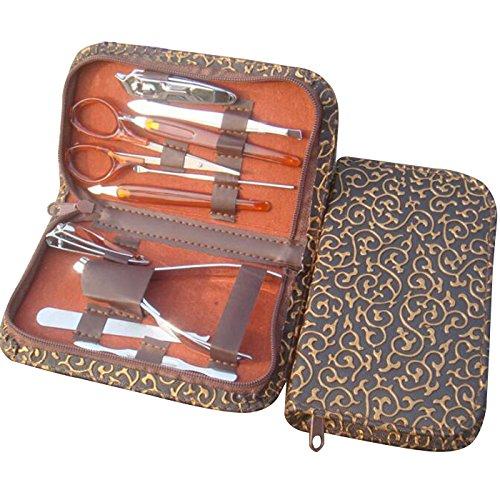 Xaer Coupe-ongles Lot de vernis à ongles kit d'entretien pédicure Ciseaux Pince à épiler couteau Ear Choisissez Outil de manucure en métal Manucure outils