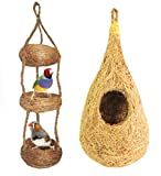 #10: ZENRISE Pure natural coconut fiber COMBO of nest and swing for pet birds Finches sparrows