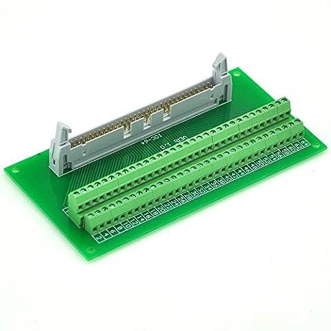 Electronics-Salon idc64 2 x 32 broches 0,3 cm mâle en-tête Breakout Board, Terminal Block, connecteur.