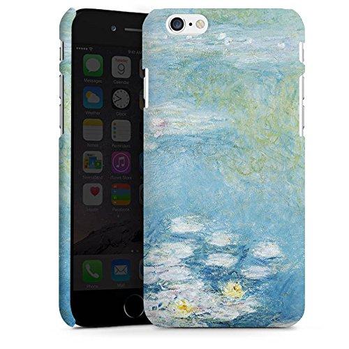 Apple iPhone X Silikon Hülle Case Schutzhülle Seerosen Claude Monet Gemälde Premium Case matt