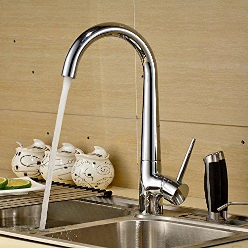 Auralum-360-giratorio-grifo-Grifera-de-cocina-Fregadero-Lavabo-grifo-Cromo-de-plata