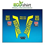 Ecoshirt 7E-0N2S-DFMA Autocollants Fourche Fork Rockshox Recon 2016 Am36 Stickers Aufkleber Decals Autocollants Bike BTT VTT Cycle Jaune 26' et 27,5'